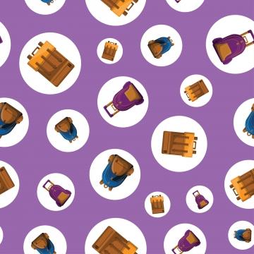 padrão sem emenda com vetor de saco de escola colorido , A Escola, Vector, Padrão Imagem de fundo