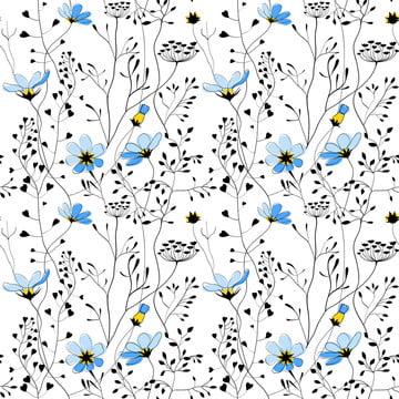 cây dại và hoa màu xanh liền mạch , Cỏ, Cỏ., Khu Vườn Ảnh nền