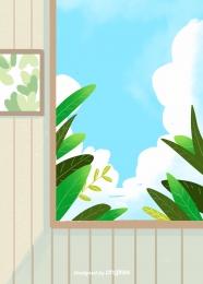 होम इंटीरियर वॉलपेपर प्लांट वॉल पेंटिंग फ्रेम , घर, इनडोर, वॉलपेपर पृष्ठभूमि छवि