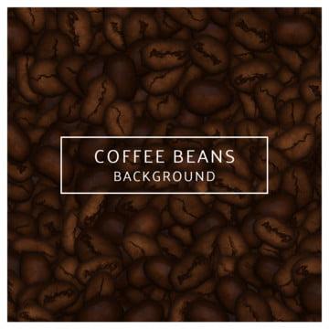 Иллюстрация кофе в зернах фона , кофе, браун, бобы Фоновый рисунок