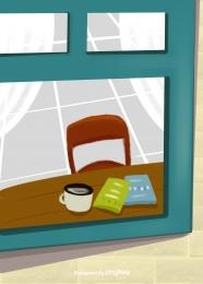 window sash glass desk book coffee chair , Window, Styleow Frame, Glass Background image