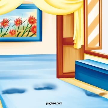 古代のリビングルーム , 客間, 壁画, 古典 背景画像