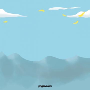 藍天 雲 丘陵 , 藍色, 天空, 片狀雲 背景圖片