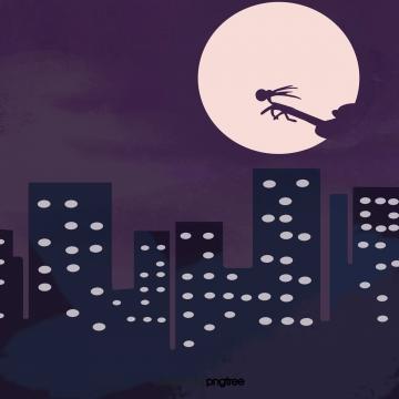 कार्टून क्रिसमस शहर रात , रात, शहर, उच्च वृद्धि पृष्ठभूमि छवि
