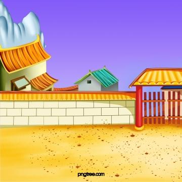 中国風のレトロな建物の壁 , 中国風, 復古, 建築物 背景画像