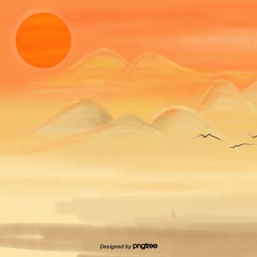 पहाड़ी दृश्यों की शाम की किरणें , दर्शनों की संख्या, चमक, सूर्य पृष्ठभूमि छवि