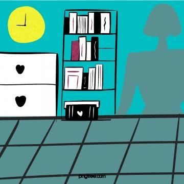 tủ sách trong nhà đồng hồ cảnh , Tủ, Bookshelf, Books Ảnh nền