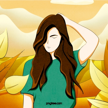 Long haired girl character plant , Long Hair, Girl, Character Background image