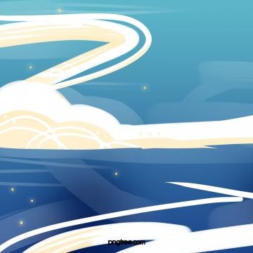 pertengahan pertengahan festival sky moire texture , Itu Festival Pertengahan Musim Gugur, Langit, Berombak imej latar belakang