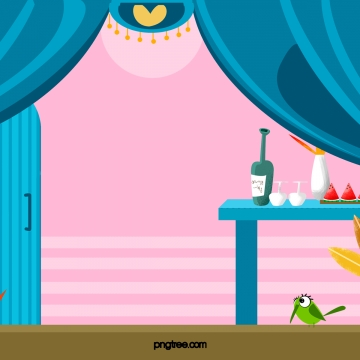 पर्दे के नीचे टेबल फूड , देहली, पर्दे, गुलाबी पृष्ठभूमि छवि