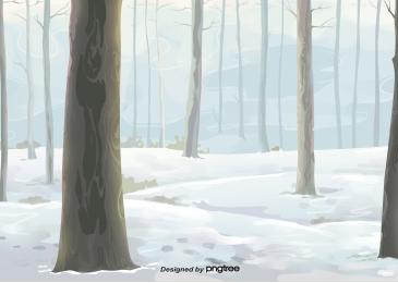 冬季樹木樹林冰天雪地, Winter, 樹木, Forest 背景圖片