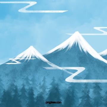 सर्दियों के जंगली देवदार के जंगल  बर्फीले पहाड़ , Winter, क्षेत्र, Pine पृष्ठभूमि छवि