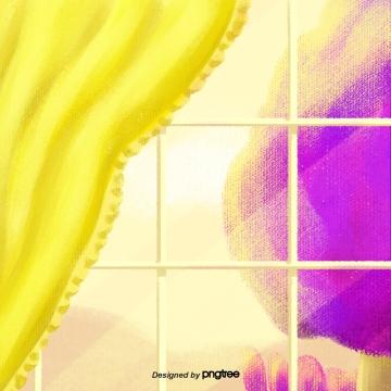 पीले पर्दे की खिड़की , पर्दे, देहली, खिड़की पृष्ठभूमि छवि