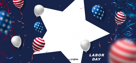 three dimensional balloon american labor day creative background, Flag Of The United States, Labor Day, Usa Background image