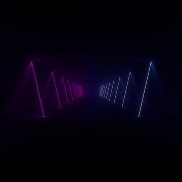 hiển thị laser 3d đường phát sáng trong hành lang , Nền, Abstract, Đèn Neon Ảnh nền