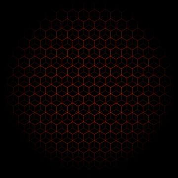 черный фон с красным гексагональным узором , черный, черный фон, черный фон с красным гексагональным узором Фоновый рисунок