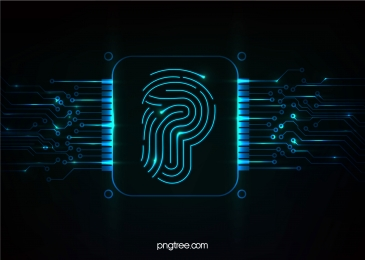 blue big data fingerprint circuit, Big Data, Circuit, Fingerprint Background image