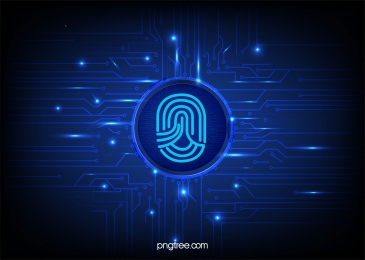 blue fingerprint big data circuit, Blue, Technology, Big Data Background image