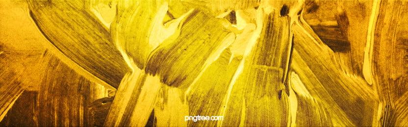 thời trang đơn giản vàng đen cọ đột quỵ hiệu ứng nền kết cấu, Thiết Kế., Nền, Băng Cờ Ảnh nền
