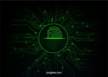 green fingerprint scanning line, Fingerprint, Scanning, Unlock Background image