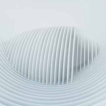 सफेद 3 डी वास्तु सार लहर आकार , पृष्ठभूमि, सफेद, वास्तुकला पृष्ठभूमि छवि