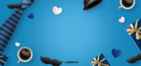 blue cartoon fathers day background, Fathers Day, Festival, Moustache Background image