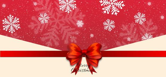 붉은 나비 크리스마스 배경, 활, Christmas, Snowflake 배경 이미지