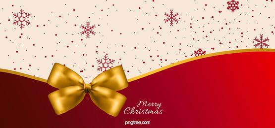 빨간 눈송이 활 크리스마스 배경, Christmas, 활, Snowflake 배경 이미지
