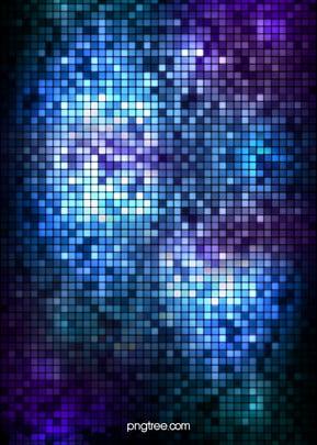 fundo colorido de mosaico moda azul, Cor De Luz, Fundo De Brilho, Fundo De Mosaico Imagem de fundo
