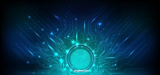 ब्लू तकनीक फिंगरप्रिंट सर्किट आरेख, प्रौद्योगिकी, बड़े डेटा, फिंगरप्रिंट पृष्ठभूमि छवि