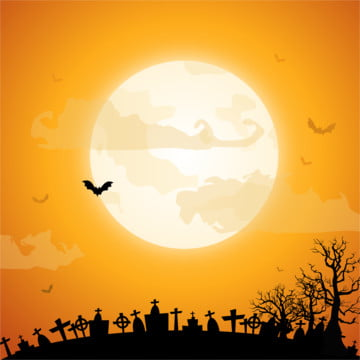 पूर्णिमा पीली थीम हैलोवीन , हेलोवीन, भेड़िया, कागज कला पृष्ठभूमि छवि
