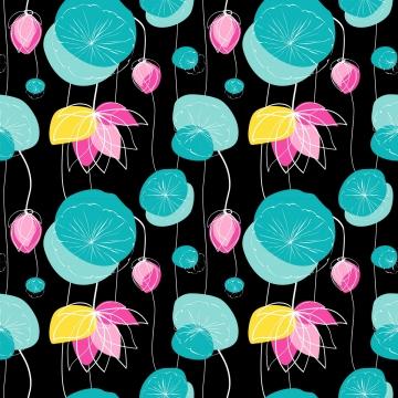 蓮のシームレスパターン , リリー, 葉, グリーン 背景画像
