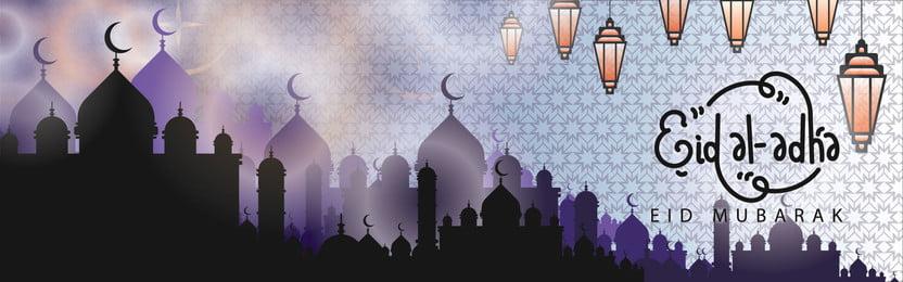 मस्जिद के साथ ईद मुबारक  खुश ईद  पृष्ठभूमि का चित्रण, ईद, अधा, अल पृष्ठभूमि छवि