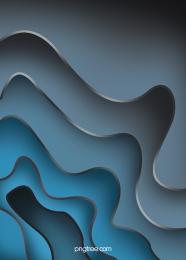 剪紙鑲邊藍色漸變流線背景 , 背景, 韻律, 流線 背景圖片