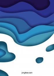 流線剪紙藍白色漸變背景 , 漸變, 背景, 韻律 背景圖片