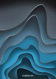 鑲邊剪紙藍色漸變流線背景 , 背景, 韻律, 流線 背景圖片