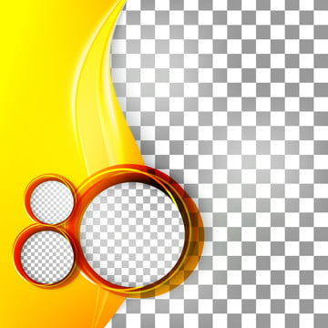 abstract flyer with yellow wave and round frame , Wave, Yellow, Circle Background image