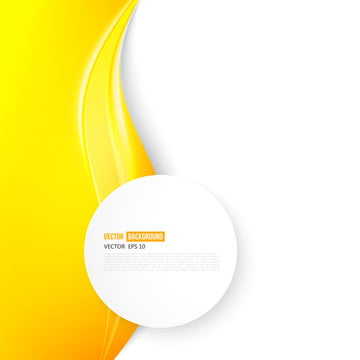 abstract white poster with yellow wave and frame , Wave, Yellow, Circle Background image