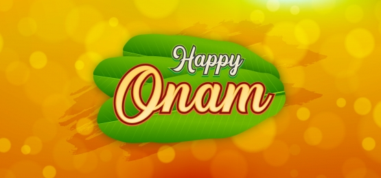 abstract happy onam lettering with bokeh background, Onam, South India, Festival Background image