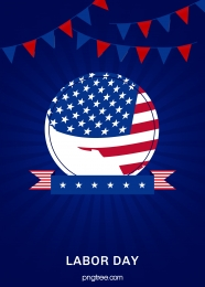 blue american labor day background , Labor Day, Coloured Flag, Festival Background image