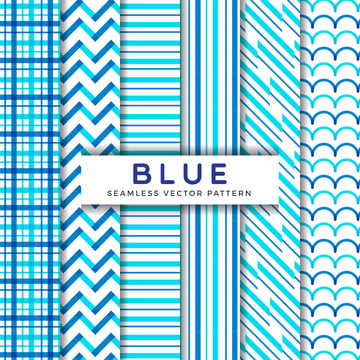 blue line seamless vector patterns , Vector, Simple, Graphic Background image