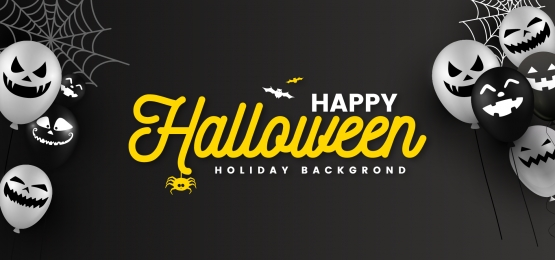 creative happy halloween black and white ghost balloon background, Halloween, Ghost Balloon, Balloon Background Background image