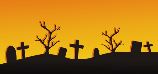 halloween background graveyard and dead tree silhouette, Halloween, Halloween Background, Background Background image