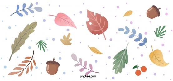 hand drawn autumn leaves decoration morandi style background, Leaf, Autumn, Giorgio Morandi Background image