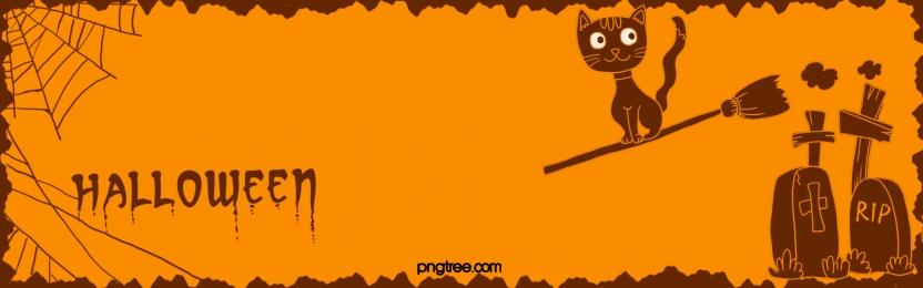 hand drawn halloween black cat graveyard doodle, Hand Painted, Halloween, Spider Web Background image