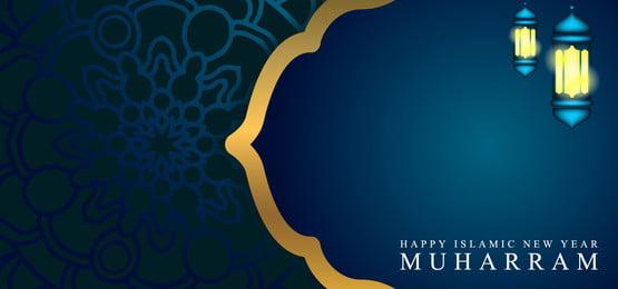 गेट गोल्डन लाइन और मंडला आभूषण के साथ इस्लामी नए साल की पृष्ठभूमि डिजाइन, मंडला, इस्लामी, डिजाइन पृष्ठभूमि छवि