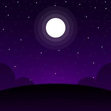 月と星空の夜空のシンプルなスタイルの背景 , ムーン, 夜, スター 背景画像