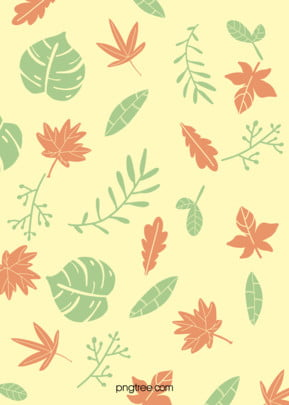 morandi green autumn deciduous background , Fallen Leaves, Green, Red Background image