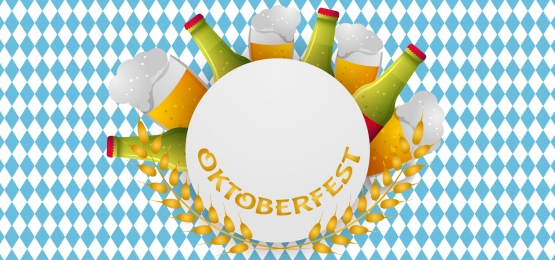oktoberfest background with frame for text  beer and glasses with a drink around, Octoberfest, Background, Beer Background image
