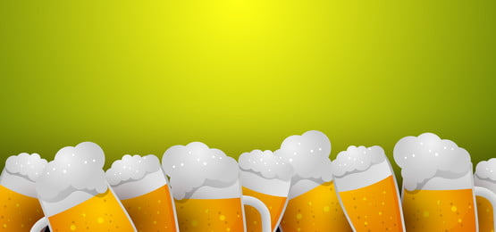 oktoberfest background with glasses of beer  border and green background, Octoberfest, Background, Beer Background image